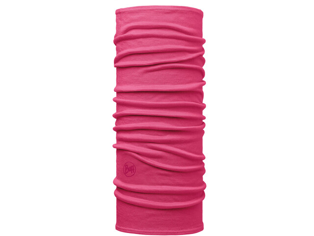 Buff Lightweight Merino Wool Neckwarmer Kids solid wild pink